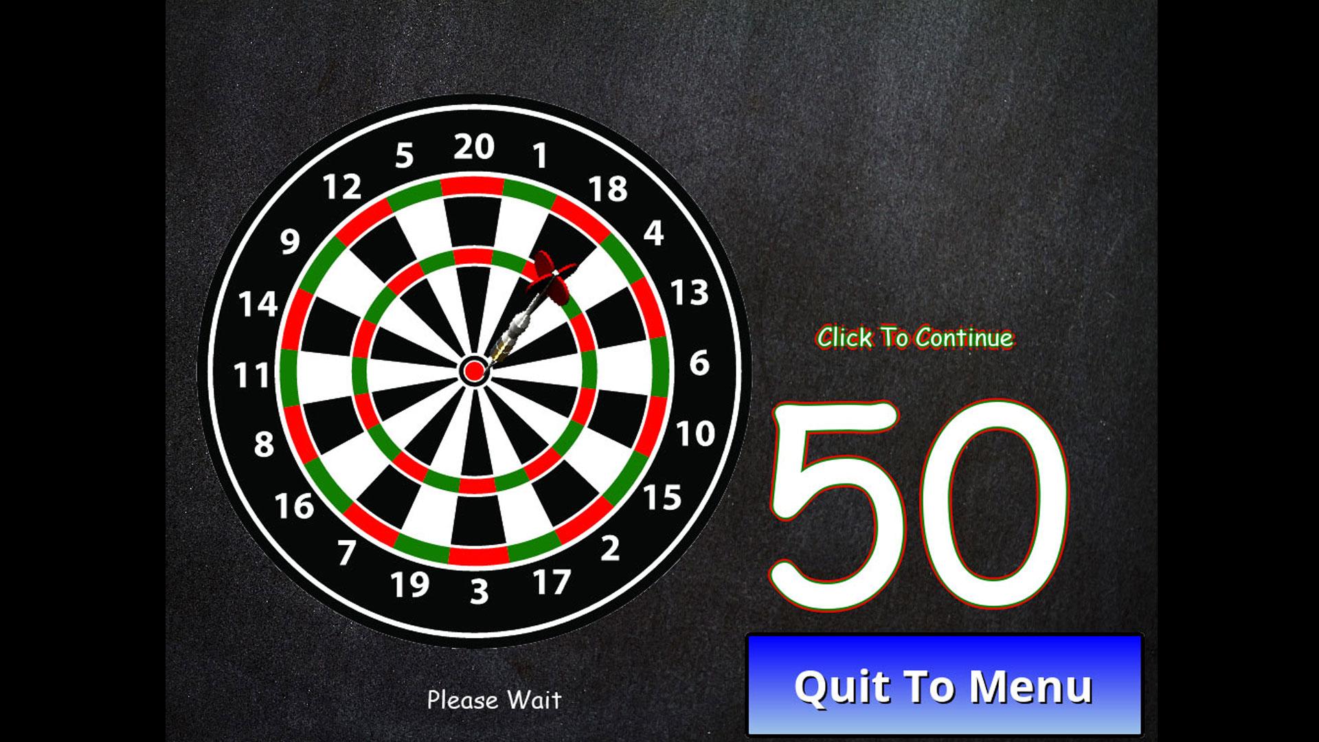 Dartboard with dart in the bullseye.