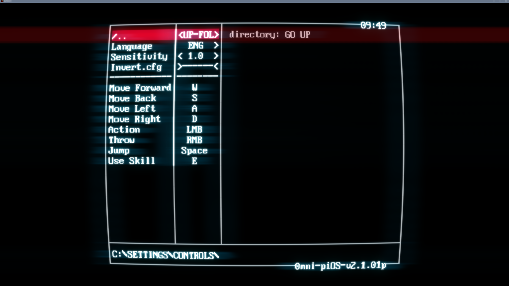 Screenshot showing the controls settings on PC which incl. sensitivity, invert and keyboard remapping options.