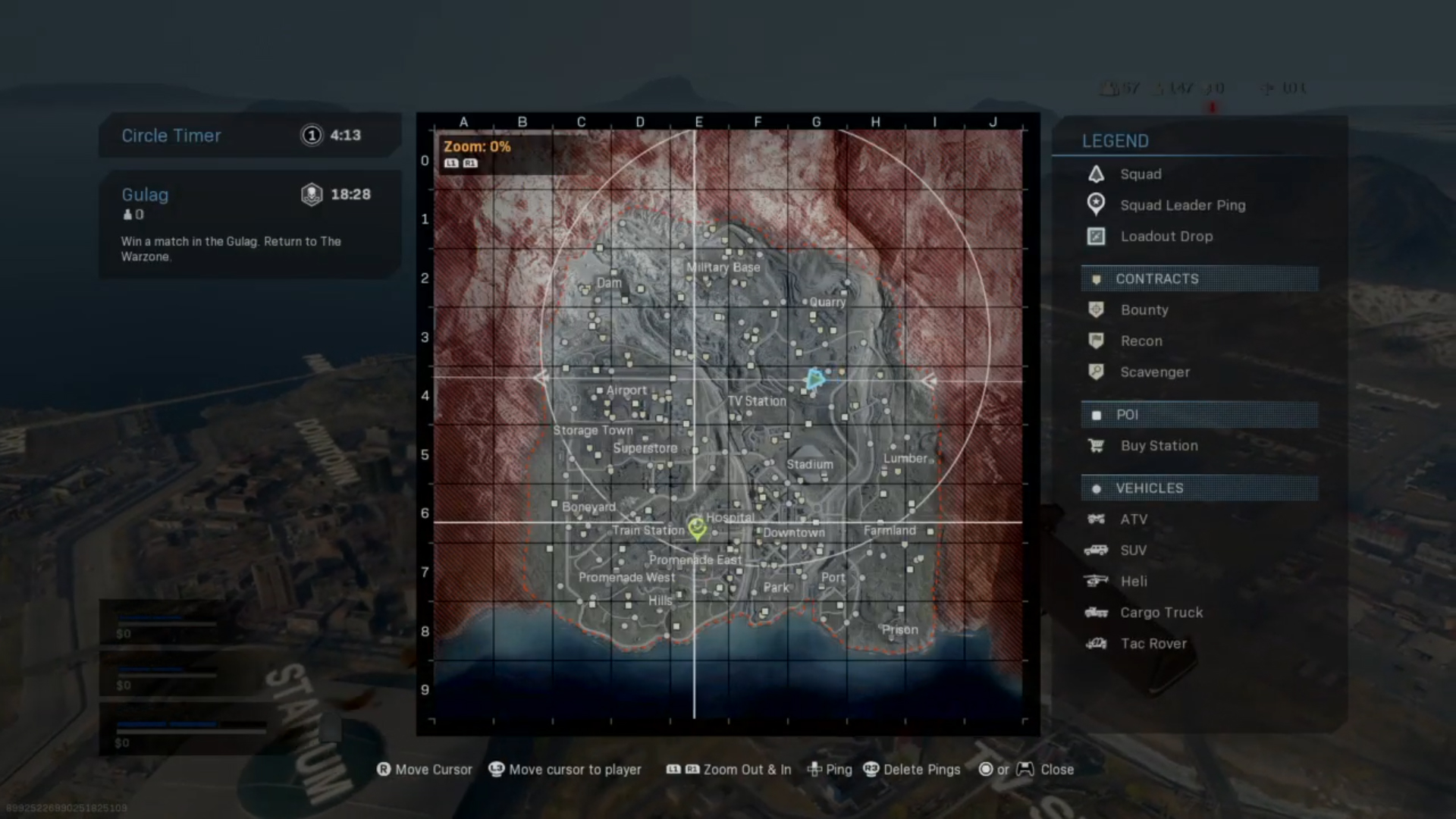 A screenshot of the Tac Map when using the Default Controller Layout.