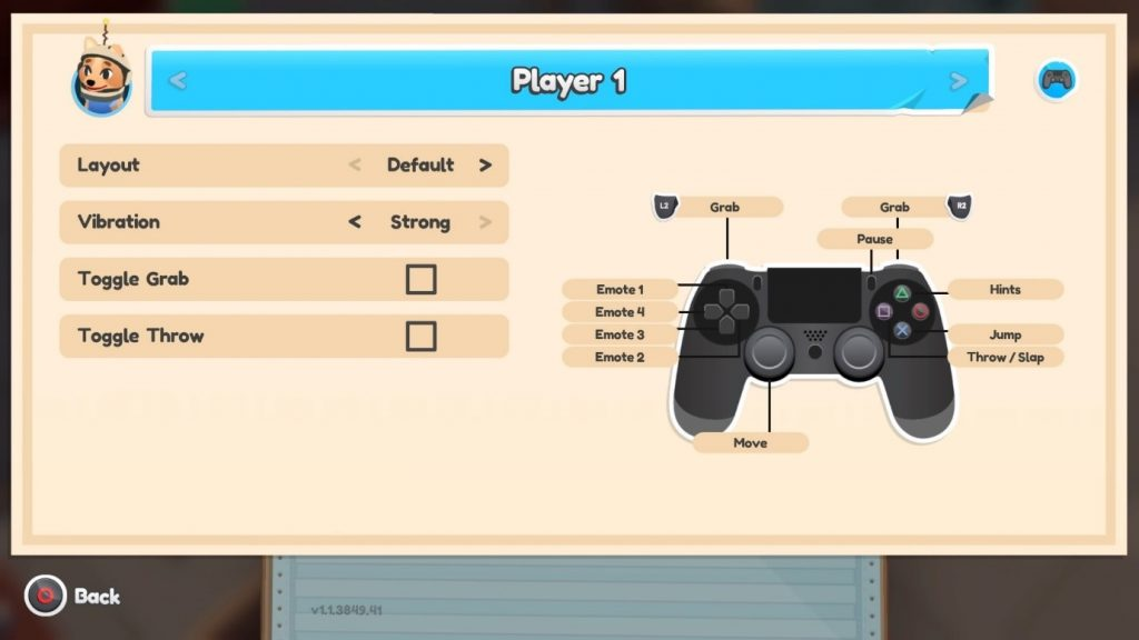 Screenshot of Default Control Layout