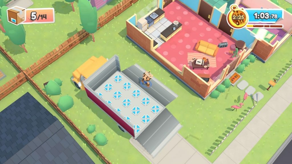 A screen shot of Moving Out with Objects disappear on delivery switched on.