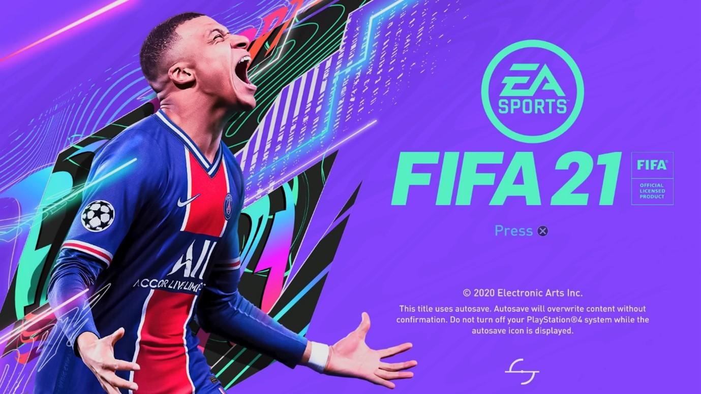 Screen shot of Fifa title screen.