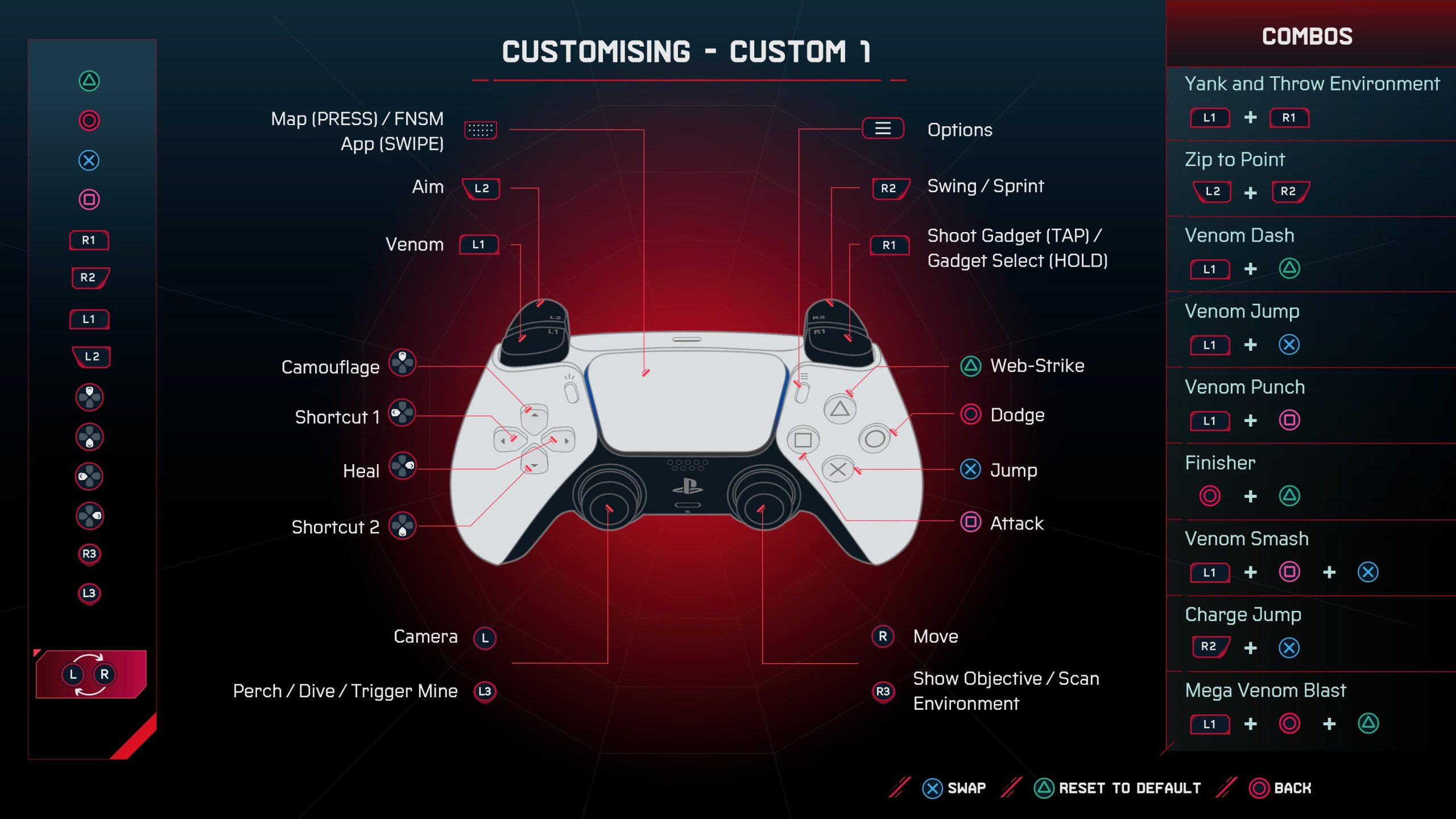 A screenshot showing the sticks being swapped in the custom layout menu