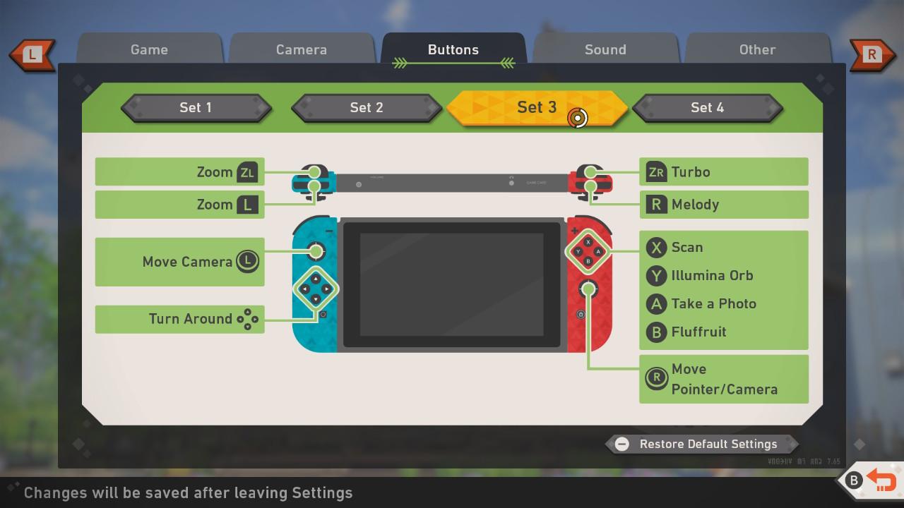 Screenshot of Set 3 button mappings.