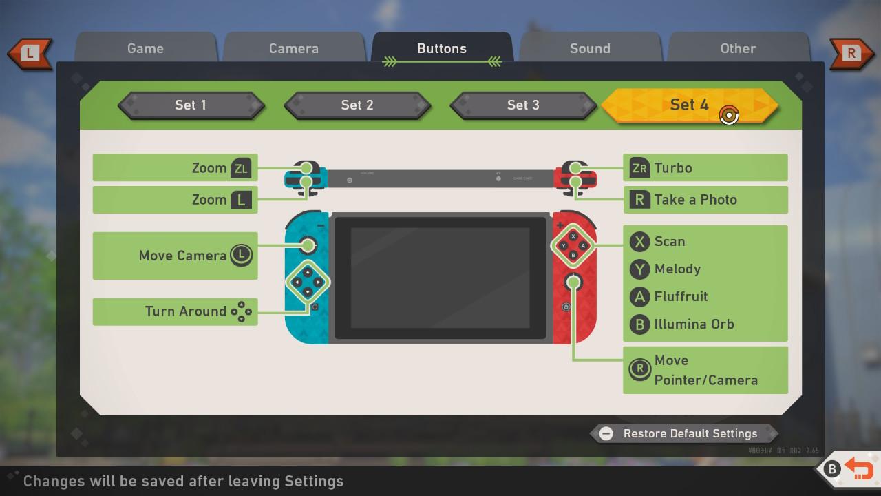 Screenshot of Set 4 button mappings.