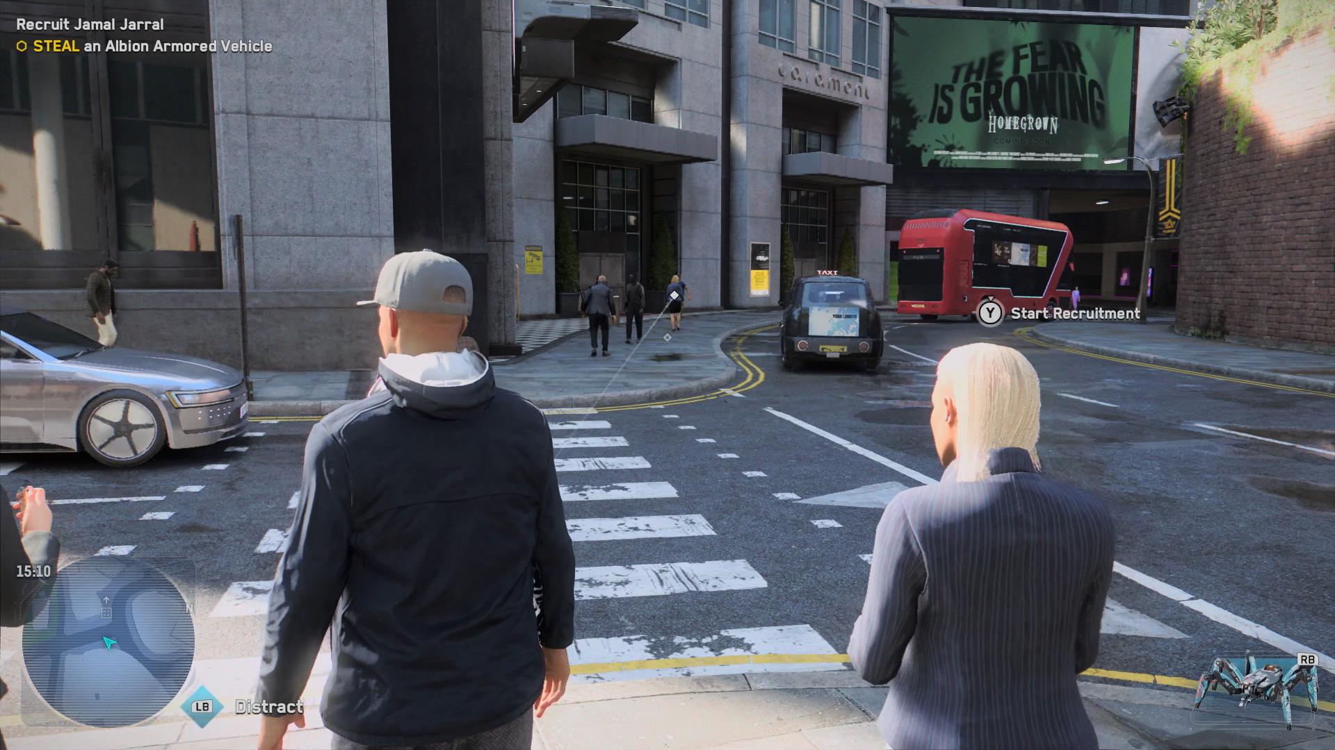 In-game street scene