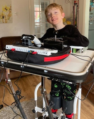 Josh with his gaming set up.